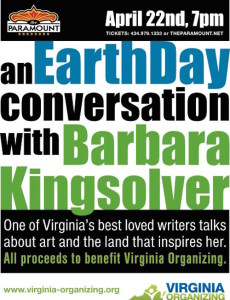 Barbara Kingsolver Earth Day flyer