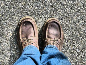 Feet on pilgimage