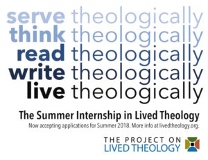 summer internship in lived theology 2018
