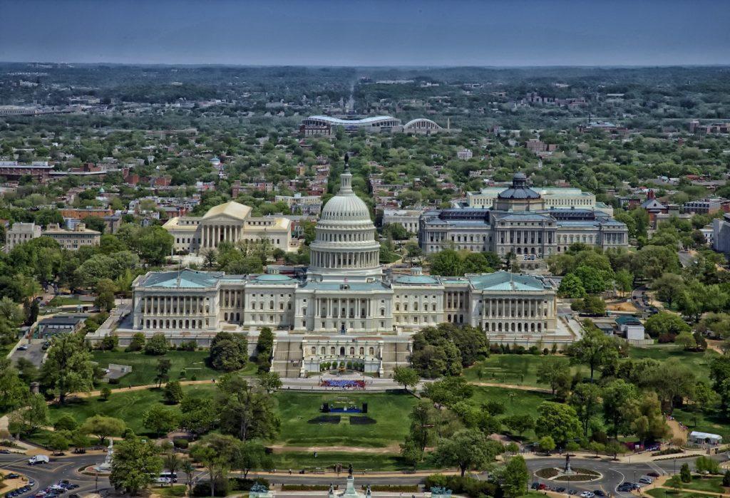 Aerial view of Washington, DC
