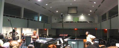 choir practice at Redeemer