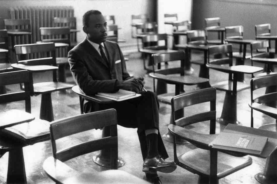 James Meredith on his first day of classes, University of Mississippi, 1962.