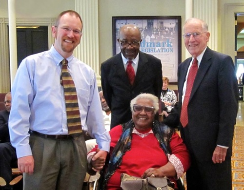 (L. to R.) Peter Slade, John Perkins, Vera Mae Perkins, William Winter