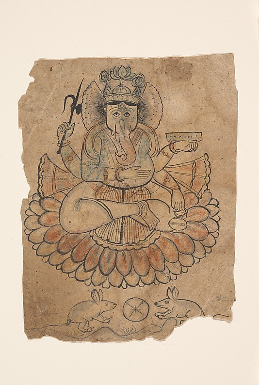 Seated Four-Armed Ganesha
