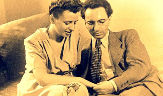 Viktor Frankl with his wife, Tilly, before they were transported to Auschwitz