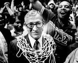 "John Robert Wooden (October 14, 1910 – June 4, 2010) was an American basketball player and coach. Nicknamed the ""Wizard of Westwood,"" as head coach at UCLA he won ten NCAA national championships in a 12-year period—seven in a row— an unprecedented feat"