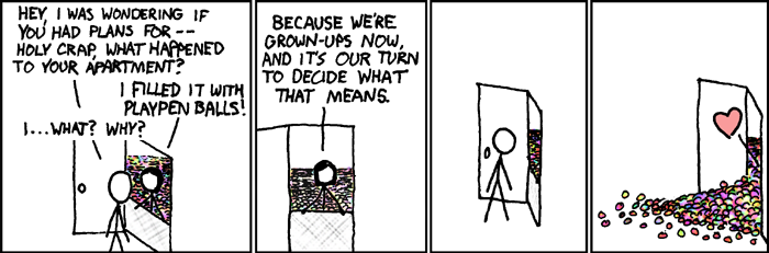 Finding that place where you belong, brought to you by XKCD comics.