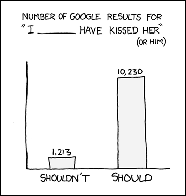 Romantic regrets, brought to you by XKCD comics.